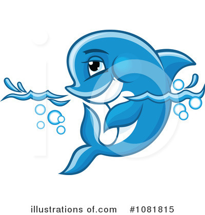 Dolphin Clipart #1081815 by Vector Tradition SM