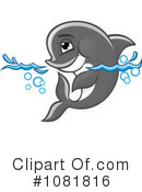 Dolphin Clipart #1081816 by Vector Tradition SM