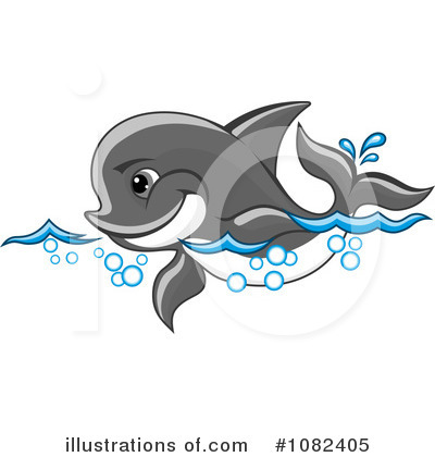 Dolphin Clipart #1082405 by Vector Tradition SM