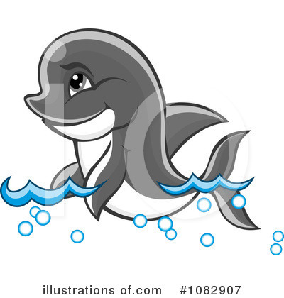 Dolphin Clipart #1082907 by Vector Tradition SM