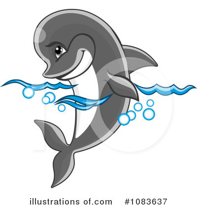 Dolphin Clipart #1083637 by Vector Tradition SM