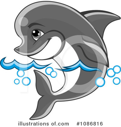 Dolphin Clipart #1086816 by Vector Tradition SM