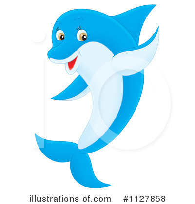 Dolphin Clipart #1127858 by Alex Bannykh