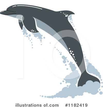 Dolphin Clipart #1182419 by Vector Tradition SM