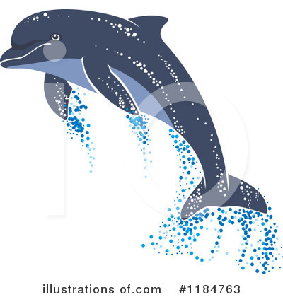 Dolphin Clipart #1184763 by Vector Tradition SM