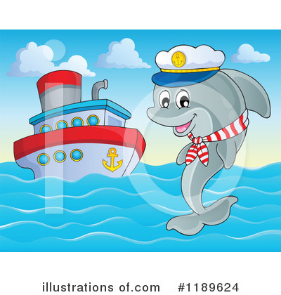 Royalty-Free (RF) Dolphin Clipart Illustration by visekart - Stock Sample #1189624