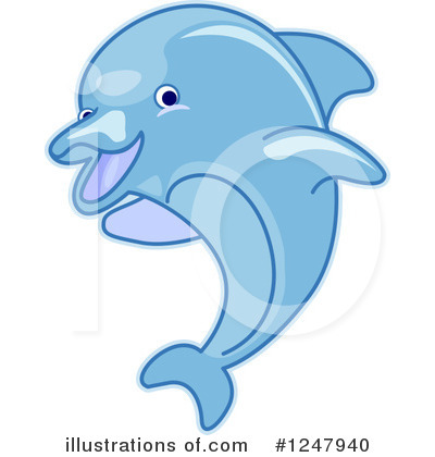 Dolphin Clipart #1247940 by BNP Design Studio