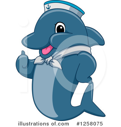 Dolphin Clipart #1258075 by BNP Design Studio