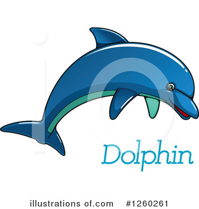 Dolphin Clipart #1260261 by Vector Tradition SM
