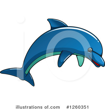 Royalty-Free (RF) Dolphin Clipart Illustration by Vector Tradition SM - Stock Sample #1260351