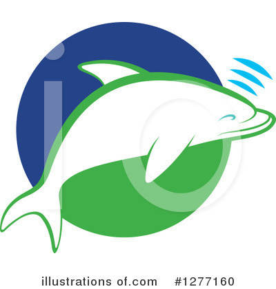 Dolphin Clipart #1277160 by Lal Perera