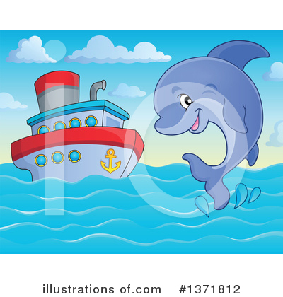 Dolphin Clipart #1371812 by visekart