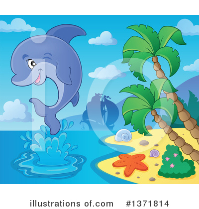 Dolphin Clipart #1371814 by visekart
