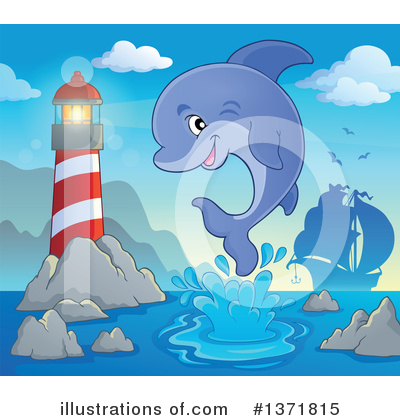 Dolphin Clipart #1371815 by visekart