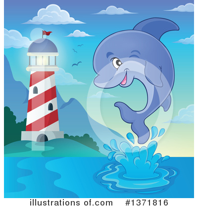 Dolphin Clipart #1371816 by visekart