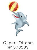 Dolphin Clipart #1378589 by AtStockIllustration