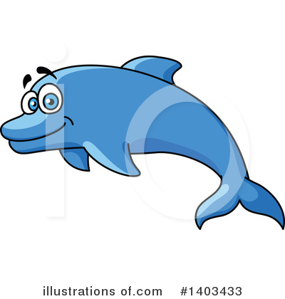 Dolphin Clipart #1403433 by Vector Tradition SM