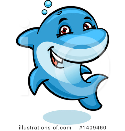 Dolphin Clipart #1409460 by Vector Tradition SM