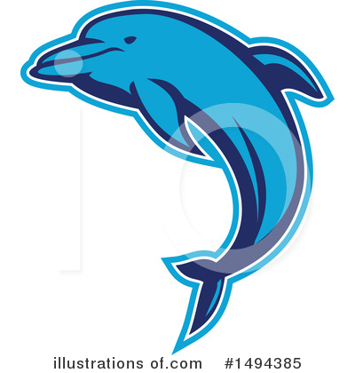 Dolphin Clipart #1494385 by patrimonio
