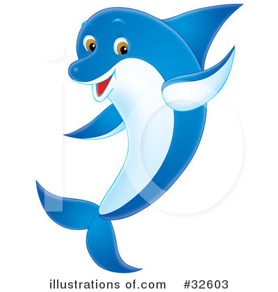 Fish Vector Free on Royalty Free  Rf  Dolphin Clipart Illustration By Alex Bannykh   Stock