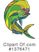 Dolphin Fish Clipart #1376471 by patrimonio