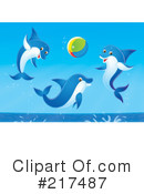 Dolphins Clipart #217487 by Alex Bannykh
