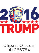 Royalty-Free (RF) Donald Trump Clipart Illustration #1366784