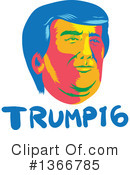 Royalty-Free (RF) Donald Trump Clipart Illustration #1366785