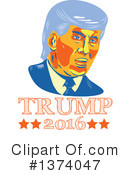 Royalty-Free (RF) Donald Trump Clipart Illustration #1374047