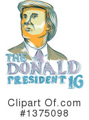 Royalty-Free (RF) Donald Trump Clipart Illustration #1375098