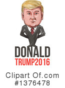 Royalty-Free (RF) Donald Trump Clipart Illustration #1376478
