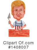Royalty-Free (RF) Donald Trump Clipart Illustration #1408007