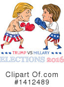 Royalty-Free (RF) Donald Trump Clipart Illustration #1412489