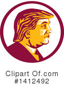 Royalty-Free (RF) Donald Trump Clipart Illustration #1412492