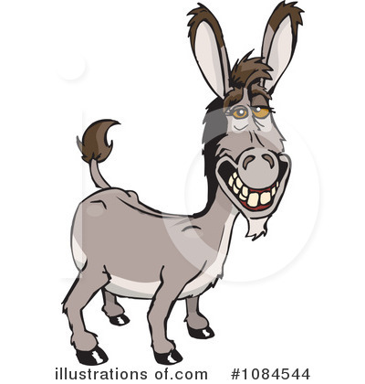 Donkey Clipart #1084544 by Dennis Holmes Designs