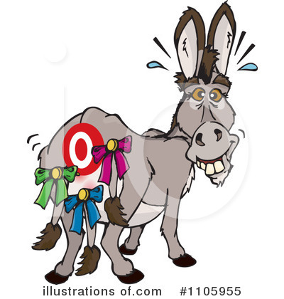 Donkey Clipart #1105955 by Dennis Holmes Designs