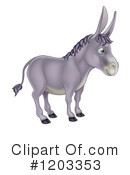 Donkey Clipart #1203353 by AtStockIllustration