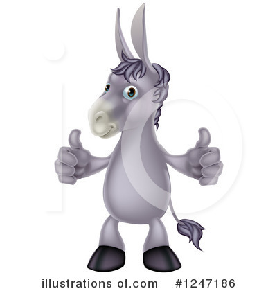 Royalty-Free (RF) Donkey Clipart Illustration by AtStockIllustration - Stock Sample #1247186