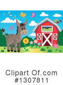 Donkey Clipart #1307811 by visekart
