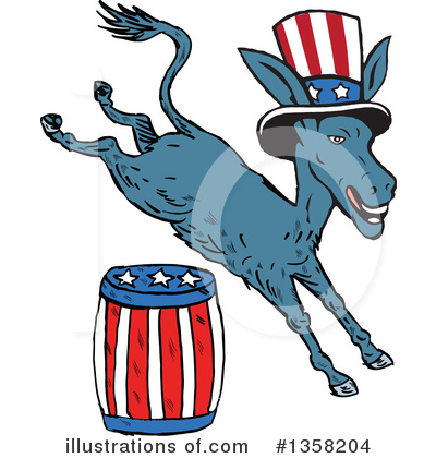 Democrat Clipart #1358204 by patrimonio