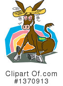 Donkey Clipart #1370913 by Andy Nortnik