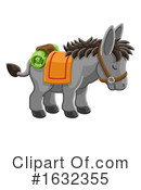 Donkey Clipart #1632355 by AtStockIllustration