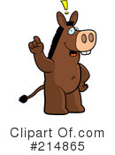 Donkey Clipart #214865 by Cory Thoman