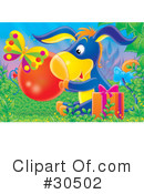 Royalty-Free (RF) Donkey Clipart Illustration #30502