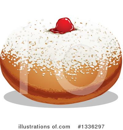 Royalty-Free (RF) Donut Clipart Illustration by Liron Peer - Stock Sample #1336297