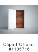Royalty-Free (RF) Door Clipart Illustration #1106716