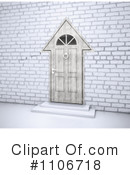 Royalty-Free (RF) Door Clipart Illustration #1106718