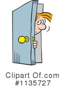 Royalty-Free (RF) Door Clipart Illustration #1135727