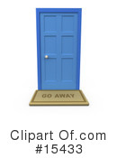Royalty-Free (RF) Door Clipart Illustration #15433