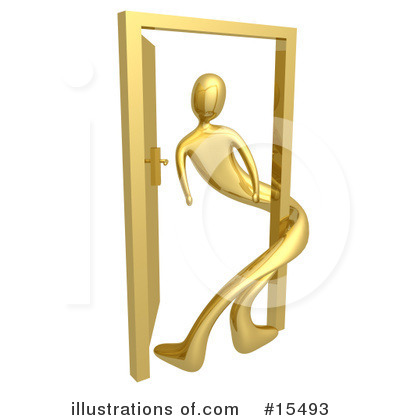 Royalty-Free (RF) Door Clipart Illustration by 3poD - Stock Sample #15493